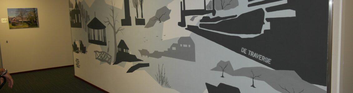 Muurschildering Son en Breugel